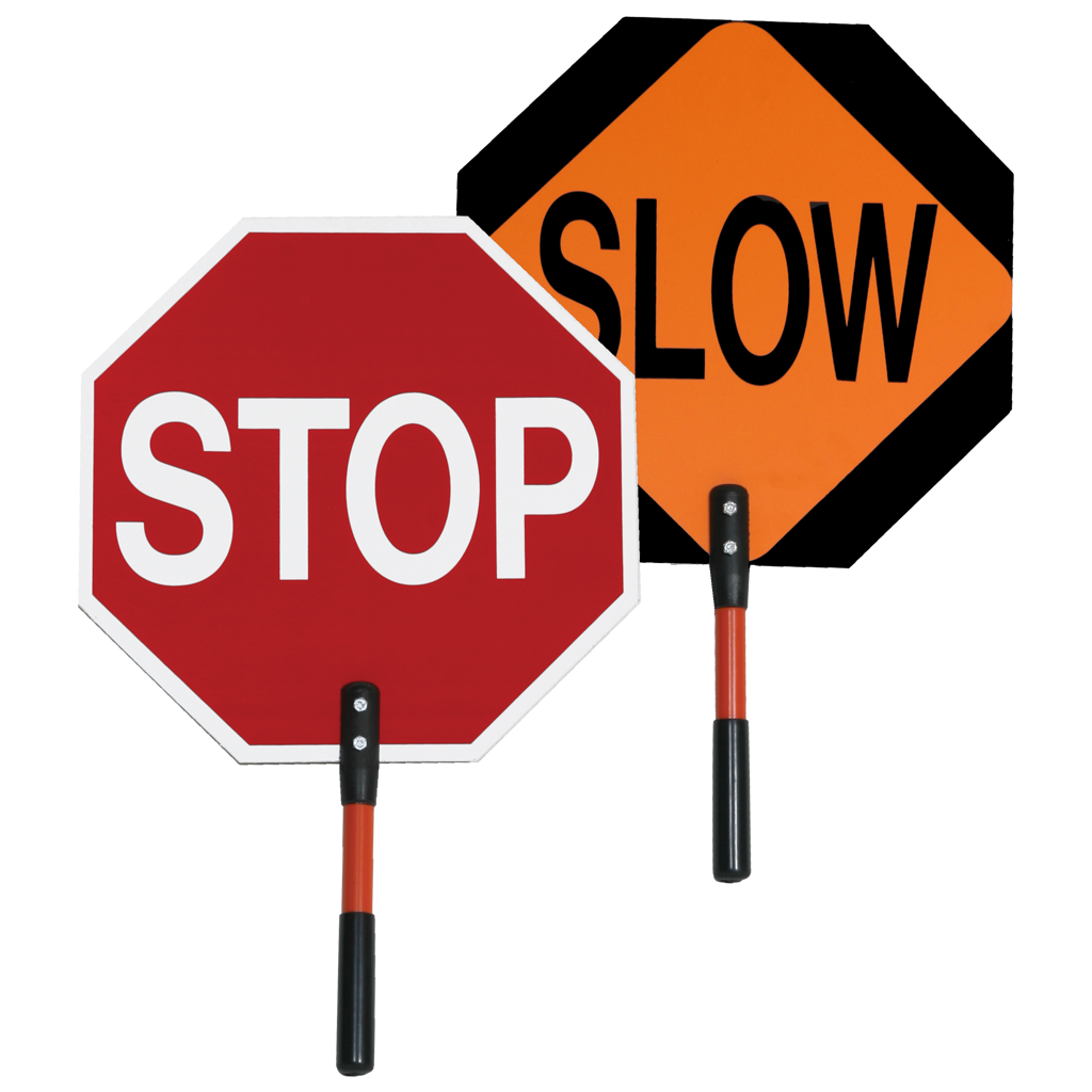 safezone series stop slow paddle traffic control accessories