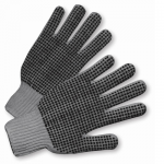 West Chester Protective Gear 708SKBSG Dotted String Knit Gloves