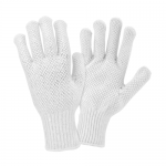 West Chester Protective Gear K708SKBSW Dotted String Knit Gloves