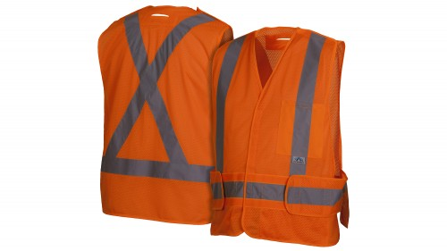 RCA2720SEX2 Self Extinguishing Orange Safety Vest