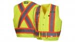 RCMS2810SE Self Extinguishing Lime Safety Vest