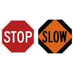 SafeZone Series Stop / Slow Paddle Traffic Control Accessories